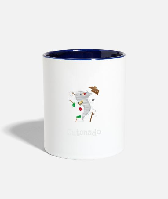 Storm Mugs & Cups - Funny Cutenado Cute Tornado Lovers - Two-Tone Mug white/cobalt blue