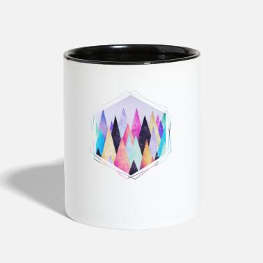 Nature Collection  Hipster triangles (geometry) Abstract Mountains  - Two-Tone Mug