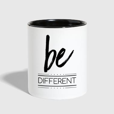 be different - Contrast Coffee Mug