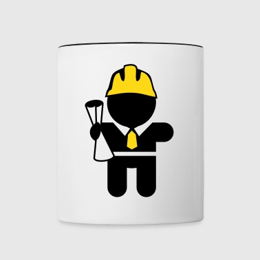 careers and professions: the engineer - Contrast Coffee Mug