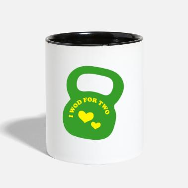 Pregnancy i wod for two - pregnancy weight lifting - Two-Tone Mug