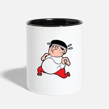 Fat Fat Man Diet Jogging Running Fitness Workout - Two-Tone Mug