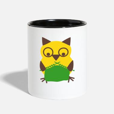 Sumu Lee knitting owl - Contrast Coffee Mug