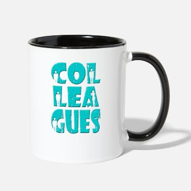 Colleague colleagues gift idea - Two-Tone Mug