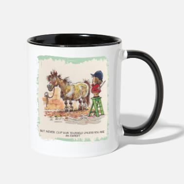 Norman Thelwell Thelwell Hairdresser Be A Expert - Two-Tone Mug