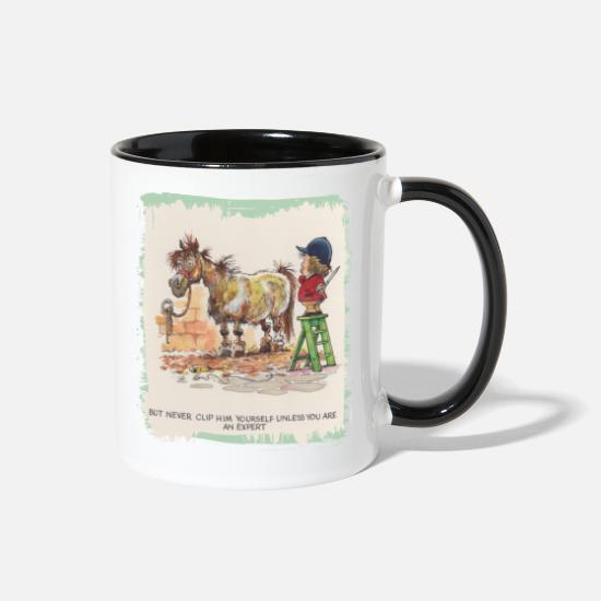 Cartoon Mugs & Drinkware - Thelwell Hairdresser Be A Expert - Two-Tone Mug white/black
