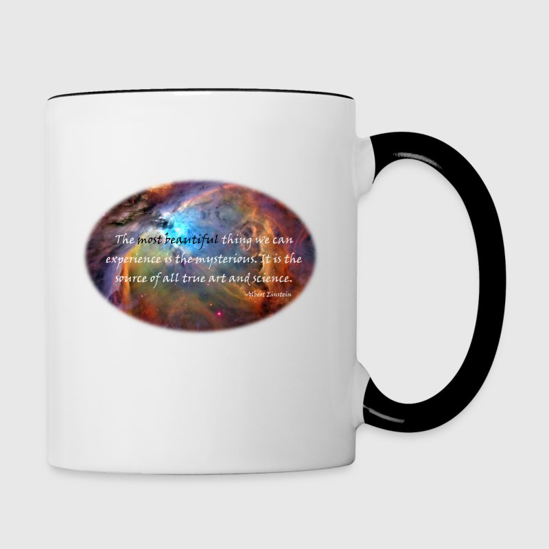 The mysterious: Carl Sagan Quote - Contrast Coffee Mug