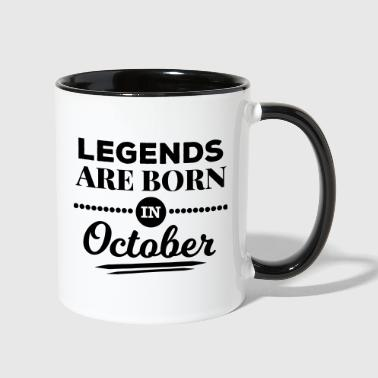 legends are born in october birthday October  - Contrast Coffee Mug