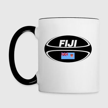 Fiji Flag Rugby Ball - Contrast Coffee Mug