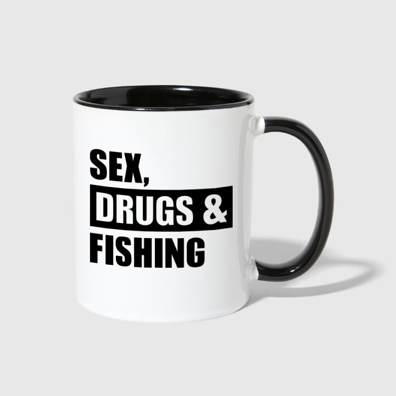 Sex Drugs Fishing - Contrast Coffee Mug
