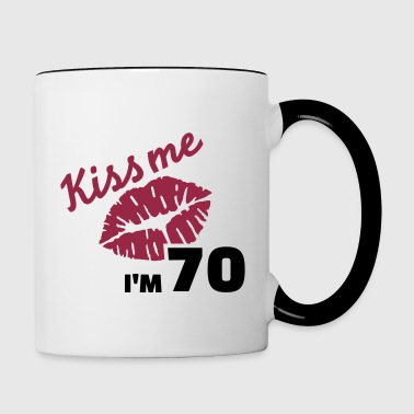 70 birthday - Contrast Coffee Mug