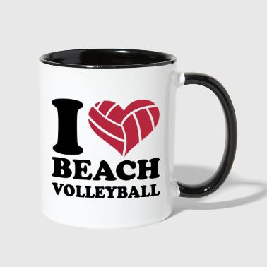 Beach volleyball - Contrast Coffee Mug