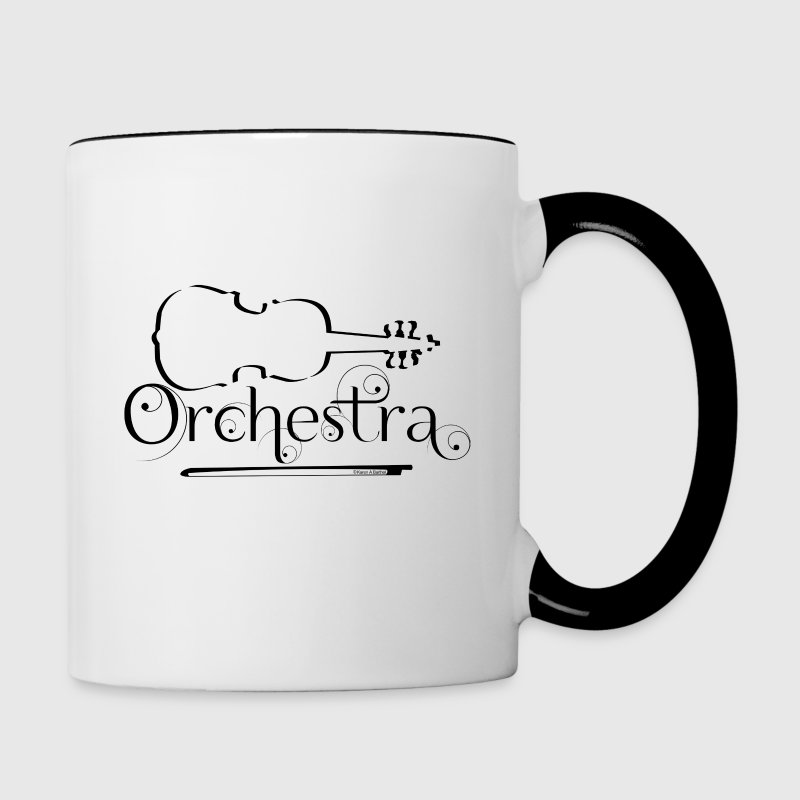Orchestra Violin Outline - Contrast Coffee Mug