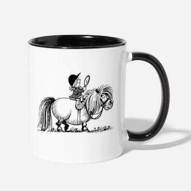 Anns Selection Thelwell Penelope Riding A Pony - Two-Tone Mug