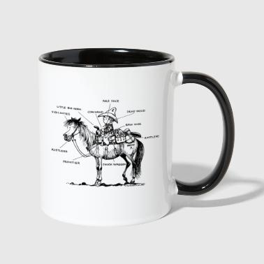 Thelwell Learning Western Riding - Contrast Coffee Mug