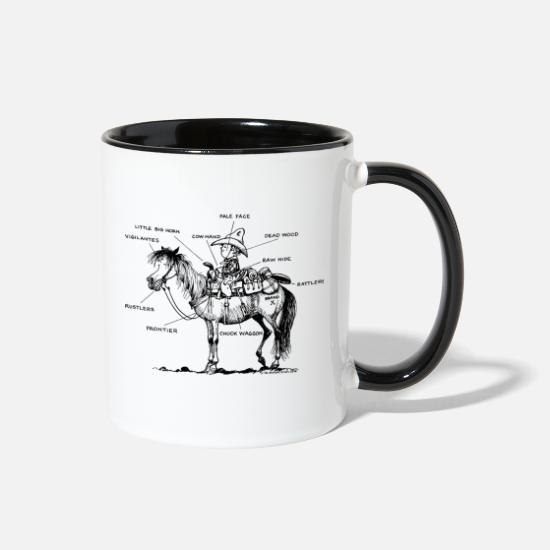 Horse Mugs & Drinkware - Thelwell Learning Western Riding - Two-Tone Mug white/black