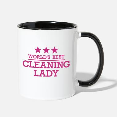 Cleaning Lady Cleaning lady - Two-Tone Mug