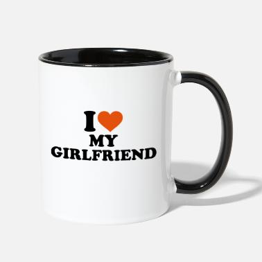 I Love I love my girlfriend - Contrast Coffee Mug