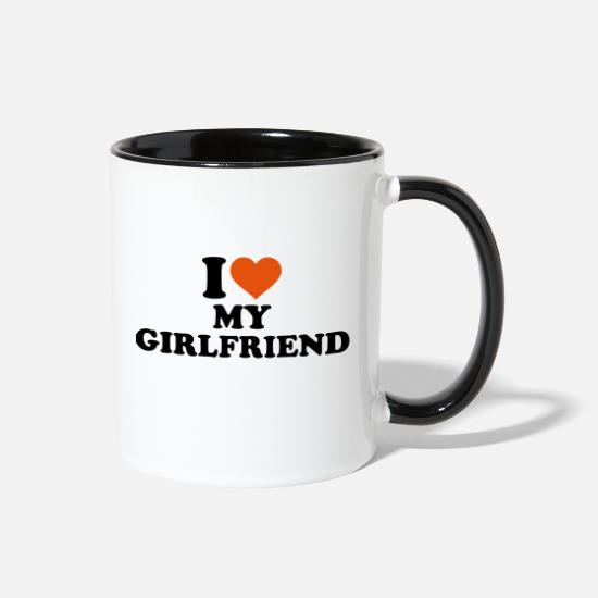 Girlfriend Mugs & Drinkware - I love my girlfriend - Two-Tone Mug white/black