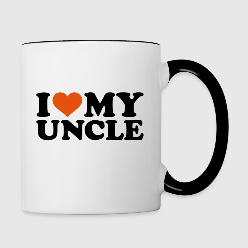 I love my uncle - Contrast Coffee Mug