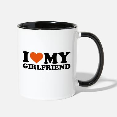 I Love My Girlfriend I love my girlfriend - Two-Tone Mug