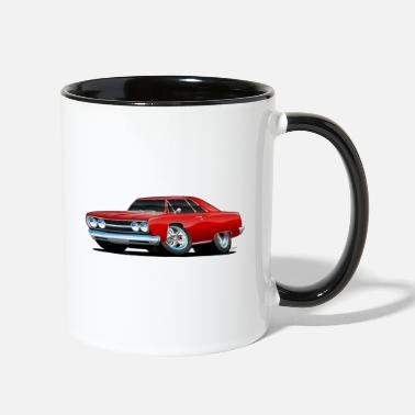 Muscle Classic Muscle Car Cartoon - Two-Tone Mug