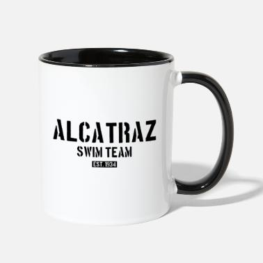 Est 1934 Alcatraz Swim Team est 1934 California Prison Jail - Two-Tone Mug
