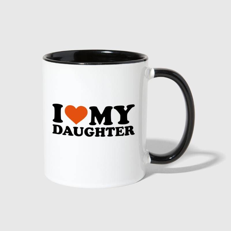 I love my daughter - Contrast Coffee Mug