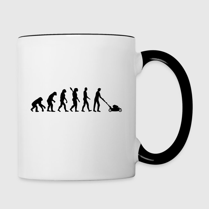 Evolution Lawn mower - Contrast Coffee Mug