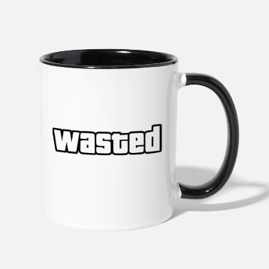 wasted / outlines only - Two-Tone Mug