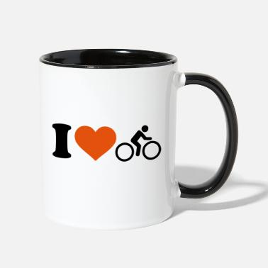 Cycling I love Cycling - Two-Tone Mug