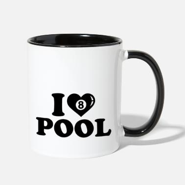 Pool Lover pool lover - Two-Tone Mug
