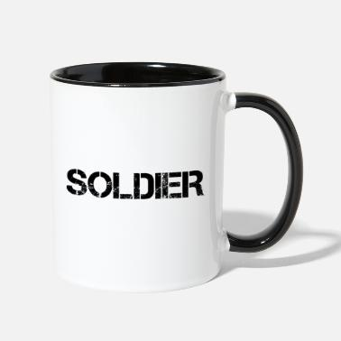 Afghanistan War Veteran Soldier - Two-Tone Mug