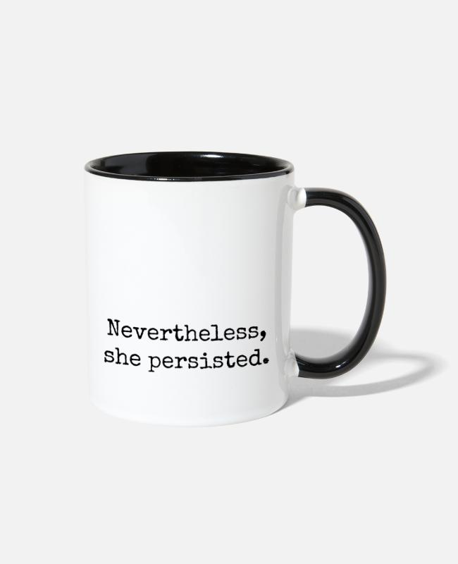 Design Mugs & Cups - Nevertheless She Persisted #LetLizSpeak - Two-Tone Mug white/black