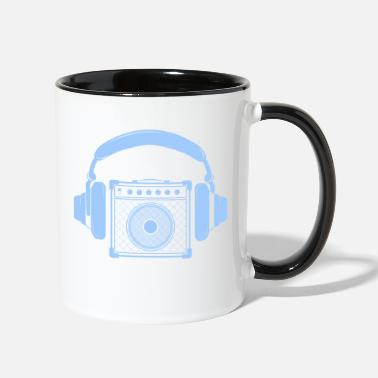 Amplifier Amplifier with Headphones Music Design - Two-Tone Mug