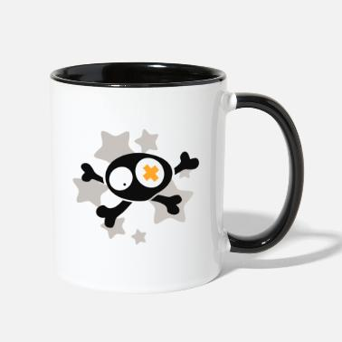 Asterisk Skull with asterisks - Two-Tone Mug