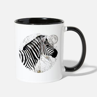 Postmark Zebra with postmark - Two-Tone Mug