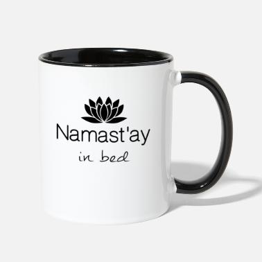 Bed Namastay in bed - Contrast Coffee Mug