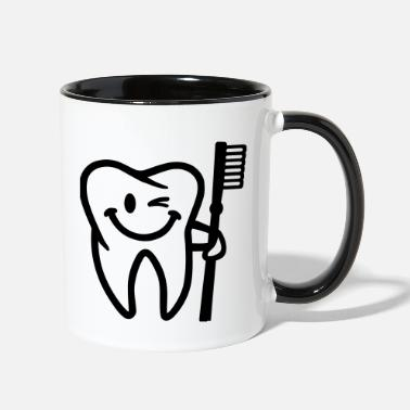 Tooth Tooth - Two-Tone Mug