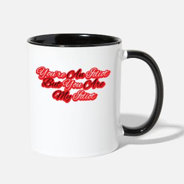 Saying Love relationship Valentines day gift Couple - Two-Tone Mug