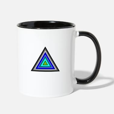 Triangle Triangles in Triangle - Two-Tone Mug