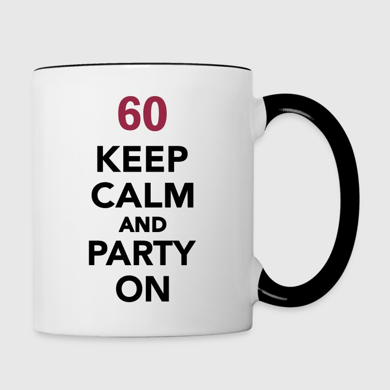 60 birthday - Contrast Coffee Mug