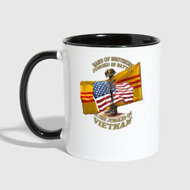 vietnam and usa flags field cross front.png - Contrast Coffee Mug