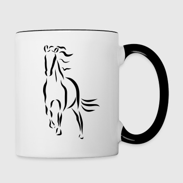 gallopping horse stallion Mare drawing stud ride - Contrast Coffee Mug