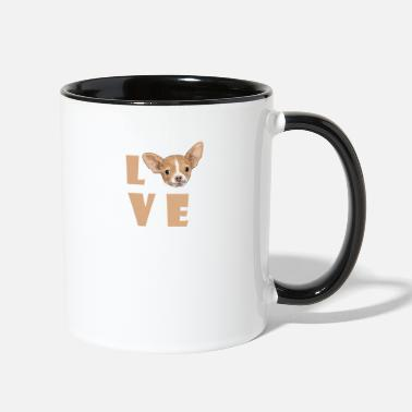 Love Dog Love Dog - Two-Tone Mug