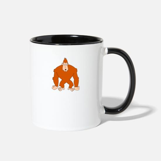 Gorilla Mugs & Drinkware - gorilla! - Two-Tone Mug white/black