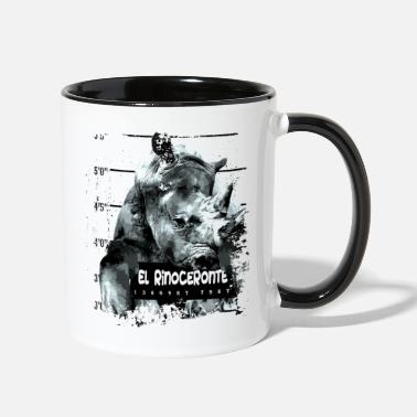 Animal Print Animal Print - El Rinoceronte - Two-Tone Mug