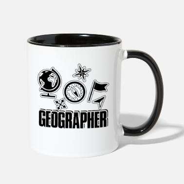 Geographic Geographer Shirt - Contrast Coffee Mug