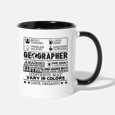 Geographic Geographer Job - Contrast Coffee Mug