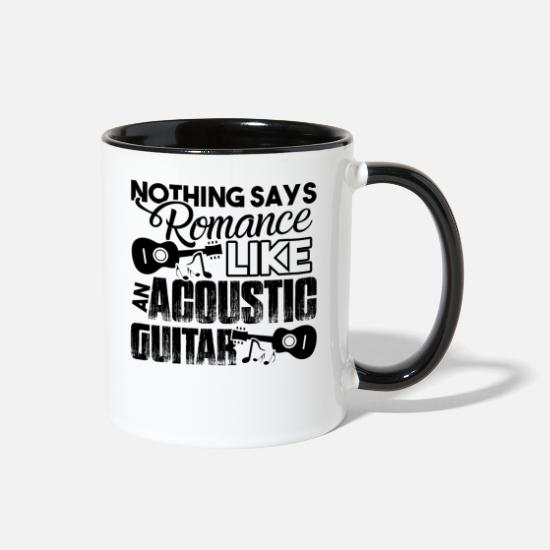 Acoustic Guitar Mugs & Drinkware - Acoustic Guitar - Two-Tone Mug white/black